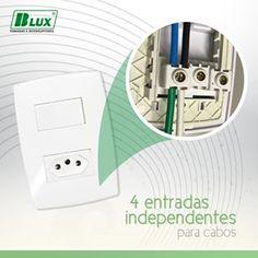 Os módulos de interruptores e tomadas B.Lux HOME são os únicos com 4 entradas independentes para fios e cabos em cada borne, o que torna mais simples a aplicação e proporciona variadas instalações adicionais. É praticidade que você precisa? A B.Lux tem!Seja diferente, seja B.Lux! #blux #bluxtomadaseinterruptores #tomadas #interruptores #conectores #fabricante #sustentavel #confiavel #15anosdegarantia #produtonacional#tomadasblux #sejadiferente