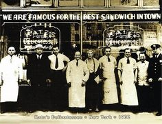 Katz's deli - from my dad in 1929, buying a knoickwurst with free beans, cole slaw... to so many now. But we miss the nasty waiters.