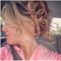 homecoming hair !!!