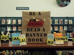 Banned Books Week display