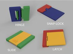 Snap-Fit Part Designs – Bart's Garage Flap Set 3d Printer Designs, 3d Printer Projects, Useful 3d Prints, Garage, Wood Joints, Engineering Projects, Plastic Design, Graduation Project, Craft Corner