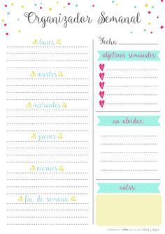 Más tamaños | planificador-semanal | Flickr: ¡Intercambio de fotos! Diy Agenda, Agenda Planner, Planner Pages, Weekly Planner, Printable Planner, Planner Stickers, Free Printables, Bullet Journal School, Bullet Journal Inspiration