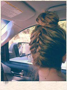 creative... upside down french braid