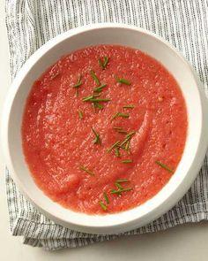 سوپ گوجه فرنگی و هلو