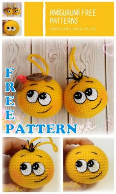 In this article I will share with you amigurumi emoticons free crochet pattern. We always keep you up-to-date with Amigurumi. Crochet Animal Amigurumi, Crochet Dolls, Crochet Cross, Free Crochet, Emoticon, Crochet Kawaii, Crochet Christmas Decorations, Crochet Projects, Free Pattern