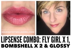 GORGEOUS COMBO! LipSense Fly Girl with Bombshell and Glossy Gloss to top it off. ❤️❤️❤️ Watch the video on how to achieve this look...or buy yours here: makeupbymelanieb.com