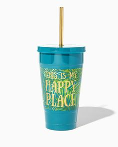 This is my Happy Place Palm Print Tumbler | Charming Charlie