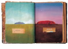 Oliver Jeffers - round-robin sketchbook created with three other artists http://www.lookatbook.com/ #artists_book