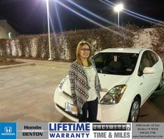 Thank you to Hanna Nickolson on your new 2006 #Toyota #Prius from Joe Majda and everyone at Honda of Denton! #NewCar