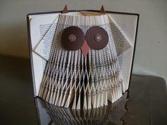 Owl folded book by Clara Maffei