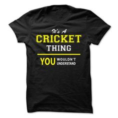 I Love Its A CRICKET thing, you wouldnt understand !! T shirts