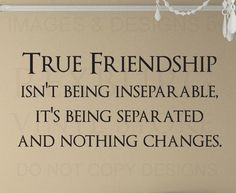 Wall Quote Decal Sticker Vinyl Friendship isn't being Inseparable Friends FR21 | Home & Garden, Home Décor, Decals, Stickers & Vinyl Art | eBay!