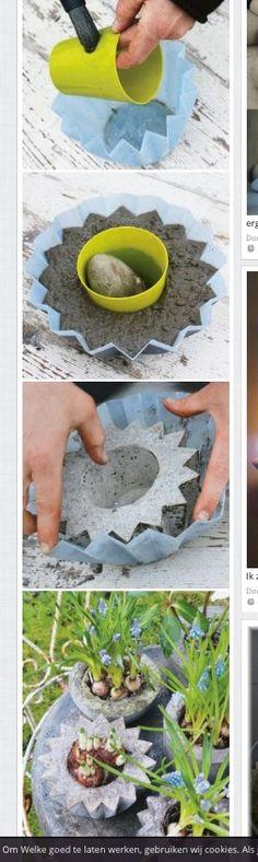 Zelf bloempot maken