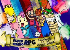 Super Mario RPG (Remake) by majinii on DeviantArt Super Mario Rpg, Super Mario World, Mario And Luigi, Mario Bros, Bowser, Comic Art, Video Games, Nintendo, Gaming