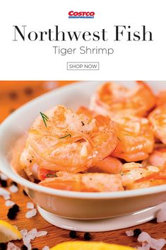 Northwest Fish's Black Tiger Shrimps are here to give your guests a tasty, juicy and unforgettable bite. These shrimps come head-off, making them easy to peel and simple to serve. After being harvested from the clear waters of Indonesia where they are then block frozen to preserve their exceptional quality. Northwest Fish's Tiger Shrimp are not treated with chemicals or preservatives, providing you with the most natural product. Shop now at Costco.com. Tiger Shrimp, Fish Farming, Black Tigers, Easy Peel, Prawn, Preserve, North West, Thai Red Curry, Frozen