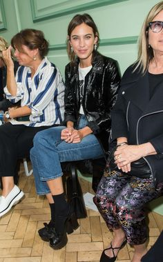 Alexa Chung at the J.W Anderson SS17 show during London Fashion Week
