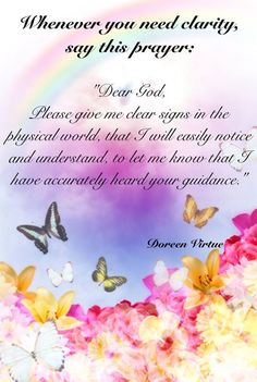 Dear God - please give me clear signs ,,.
