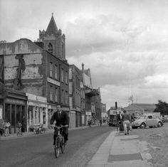 Dublin, Ireland 1959 Dublin Street, Dublin City, Love Ireland, Dublin Ireland, Photo Engraving, Irish Celtic, A Whole New World, Old Photos, Street View