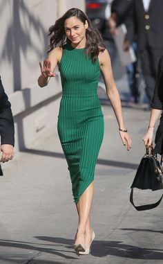 We're Green With Envy from Gal Gadot's Best Looks The actress shows off her curves in Altuzarra.