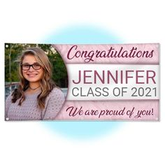 Personalized Graduation Party Banner - 3ft x 6ft
