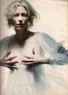 Tilda Swinton photographed by Raymond Meier