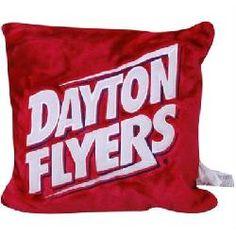 "Dayton Flyers Red 15"" Square 3D Plush Pillow"