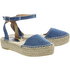 Office Wallpaper Flatform Espadrille (€31) ❤ liked on Polyvore featuring shoes, sandals, office shoes, flatform sandals, espadrille sandals, flatform shoes and office footwear