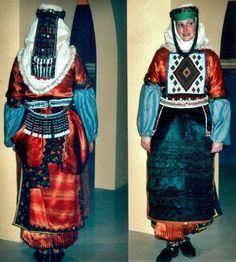 Traditional costume of the Alevi Türkmen of Hanak (prov. Ardahan, northeast-Turkey). Mid-20th century (but still very much in use today). (Kavak Costume Collection - Antwerpen/Belgium).