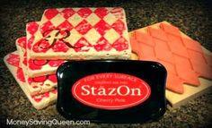 Frugal Christmas Gift: DIY Hand Stamped Coasters - MoneySavingQueen - December 2012