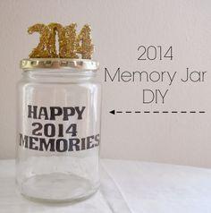 Running With A Glue Gun: 2014 Memory Jar DIY