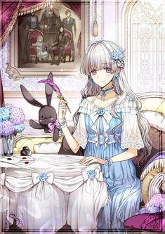 The Monster Duchess and Contract Princess (Novel) Anime Angel, Anime Demon, Romantic Manga, Manga Cute, Handsome Anime Guys, Anime Princess, Manga Covers, Anime Couples Manga, Beautiful Anime Girl