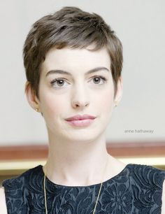 Anne Hathaway Pixie Cut                                                                                                                                                                                 More