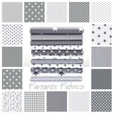 3f55ba61cb7 Details about STARS - GREY and WHITE COTTON FABRIC by the metre EX WIDE  NURSERY BOYS Oeko-tex