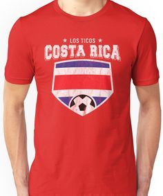 31bf1c3edb5 2018 Costa Rica Soccer Futbol World Soccer Flag Unisex T-Shirt Soccer Flags,  Zip
