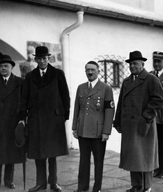 The Viscount Halifax (left of Hitler) at the Berghof - 1937. (via juliamuller1889)