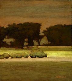North Platte Suite #2, 7x6 in. Oil on panel. Marc Bohne