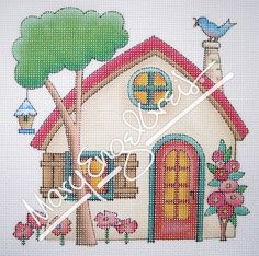 Needlepoint Canvas: Beige House – Mary Engelbreit Studios
