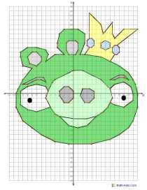 Angry Birds Coordinate Math Worksheets