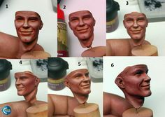 Mouth Painting, Air Brush Painting, Figure Painting, Face Painting Tutorials, Painting Techniques, Military Figures, Military Ranks, Figure Model, Scale Model