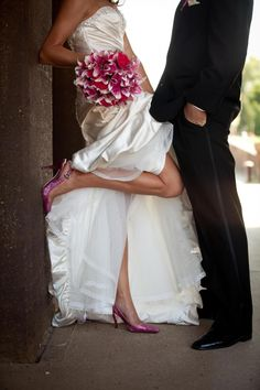 Wedding Photography-- Cute picture if you are wearing colored shoes.