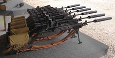 M1/M14's finely scoped and suppressed.