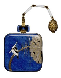 A Japanese style watch, circa 1925, by Vacheron Constantin, Swiss, composed of gold, enamel and sapphire.