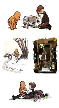 Star Wars meets Pooh and Friends