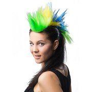buttinette Angebot Irokesen-Haarteil, grün/gelb/blauIhr QuickBerater