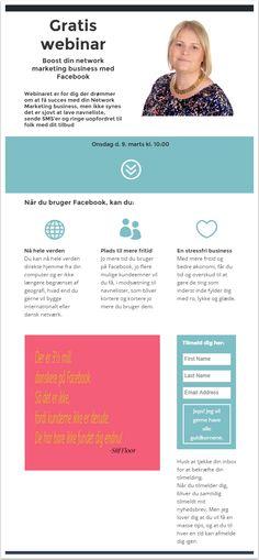 Gratis webinar: Boost din Network Marketing Business med Facebook #Webinar #NetworkMarketing