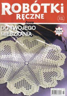 Robótki Ręczne 2008 - Hanna L - Picasa Web Albums Crochet Mat, Crochet Books, Crochet Home, Thread Crochet, Crochet Symbols, Crochet Stitches Patterns, Filet Crochet Charts, Crochet Diagram, Knitting Magazine