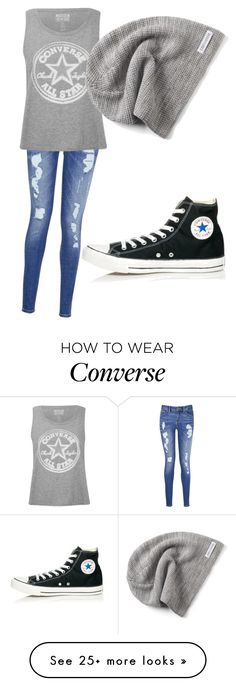 """Converse are Awesome."" by princessjaydaboo on Polyvore featuring Tommy Hilfiger and Converse"