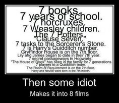 And 7 is the number of God...therefore Harry Potter is an important and amazing book series