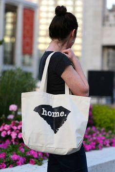 The Home. T - South Carolina Home Tote Bag. Portion of profit donated to multiple sclerosis research.