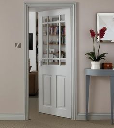 Downham Clear Pine Glazed Door